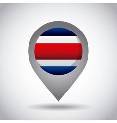 Costa rica flag pin vector