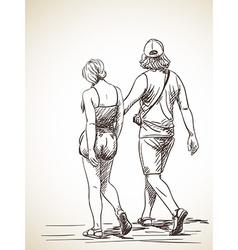 couple vector image