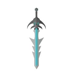 Fantastic Game Sword Model in Flat Design vector image vector image