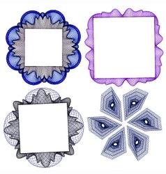 frame element guilloche vector image