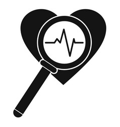 Heart icon simple style vector