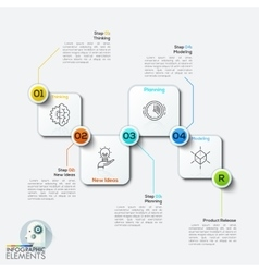 Infographics four rounded vector