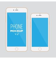 phone mockup v2 vector image