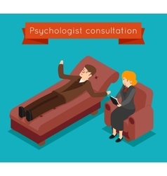 Psychologist consultation mental problems vector