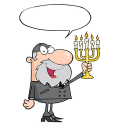 Rabbi cartoon vector