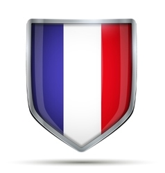 Shield with flag France vector image