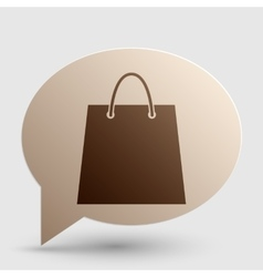 Shopping bag brown gradient icon on vector