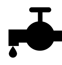 silhouette faucet icon vector image