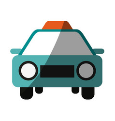 taxi frontview icon image vector image vector image