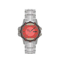 watch hand analog clock time design icon vector image
