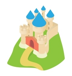 Ancient palace icon cartoon style vector