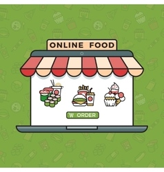 Online food ordering grocery shopping vector