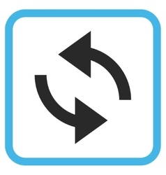Exchange arrows icon in a frame vector