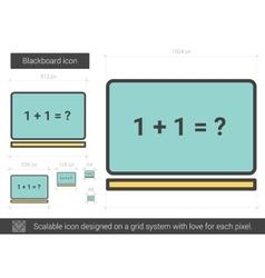 Blackboard line icon vector