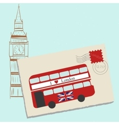 Romantic letter to london vector