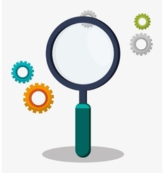 search magnifier gear work vector image