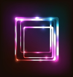 Abstract colorful glowing background with rounded vector
