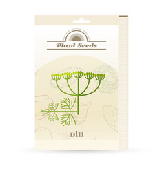 pack of dill seeds icon vector image