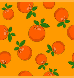 seamless pattern orange on yellow background vector image
