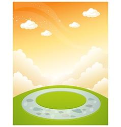 Part of garden design and sky vector image