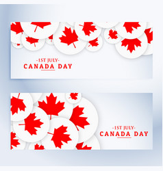 Set of canada day banners vector