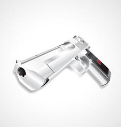 Silver hand gun vector