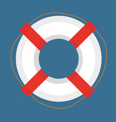 Lifebuoy icon flat cartoon style isolated on vector