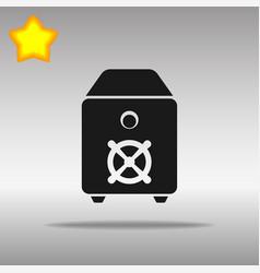 safe black icon button logo symbol concept vector image