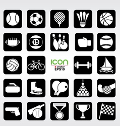 24 sports icons set eps10 vector