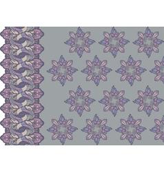 Seamless vertical border vector image