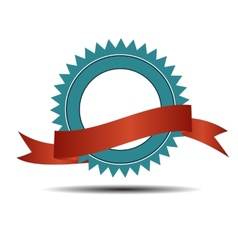 Retro Label with Red Ribbon vector image