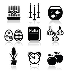 Nowruz - persian new year icons set vector
