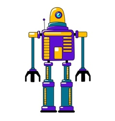 Colorful toy robot in vintage style vector