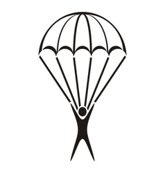 Parachute jumper icon vector