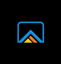 Abstract building construction shape logo vector