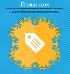 Web stickers tags and banners icon floral flat vector