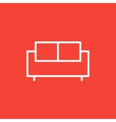 Sofa line icon vector
