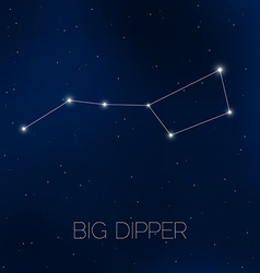 Big Dipper constellation in night sky vector image