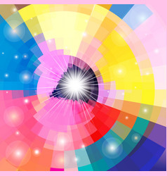 bright multicolored gradient background with vector image
