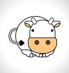 Cartoon cow vector image vector image