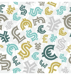 Currency seamless pattern vector image
