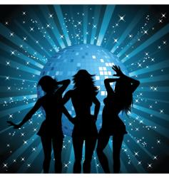 disco females vector image vector image