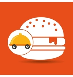 Fast delivery food burger vector