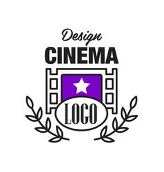 flat cinema or movie logo template design with vector image vector image