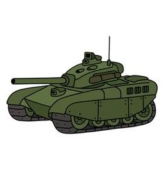 Funny green tank vector