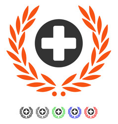 Health care embleme flat icon vector