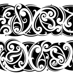 Maori tattoo set vector