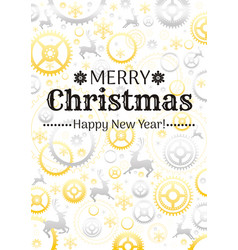 Merry christmas and new year pattern background vector
