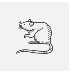 Mouse sketch icon vector image