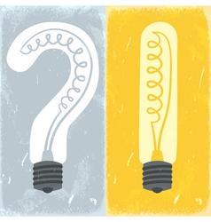 Question mark and exclamation mark lightbulbs vector